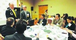 Pila Leads DBC Breakfast; Leader Networking Follows