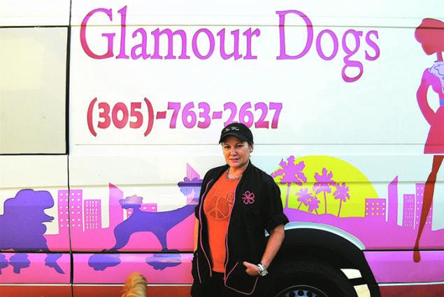 Maria Drew is pictured alongside her van.