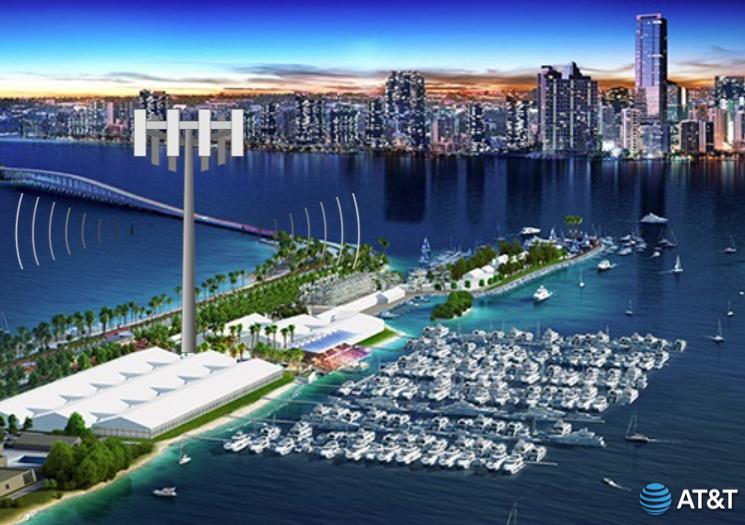 cell tower att boat show