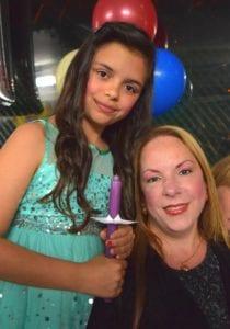Rising star Georgina Paez and her mother, Barbara.