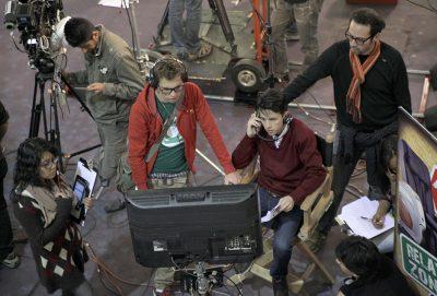 The Benavides brothers on the set of Engano a Primera Vista. (Photo by Eduardo Capriles.)