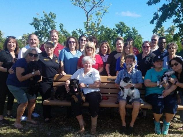 Comm. Heyman dedicates bench in Bark Park to Norma Jay