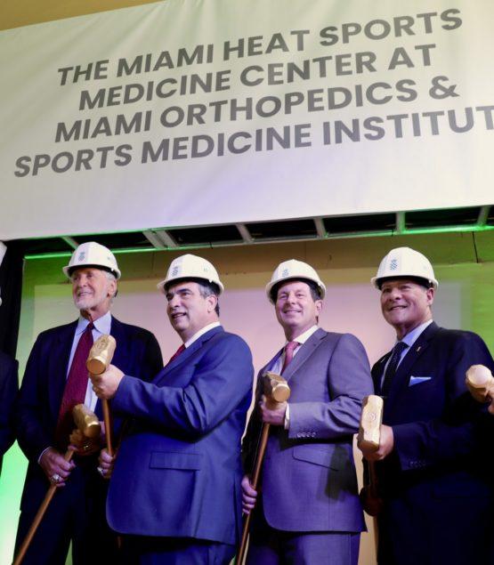 Baptist Health, Miami Heat break ground on Miami Heat Sports Medicine Center