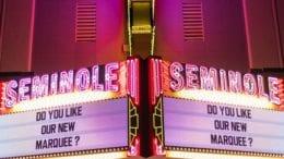 Seminole Theatre in Homestead unveils its new digital marquee