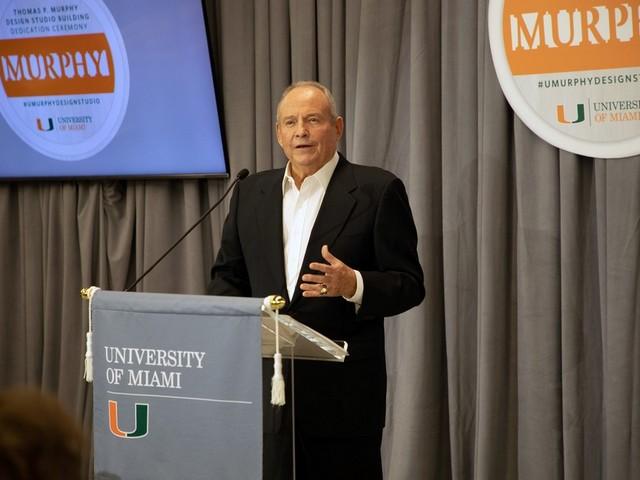 UM's School of Architecture dedicates the Thomas P. Murphy Design Studio