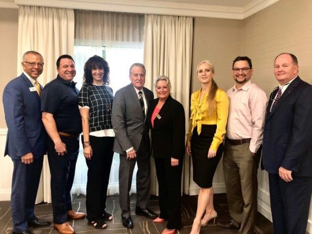 Aventura Marketing Council/Chamber of Commerce Board meets with Hallandale Beach Mayor Joy Adams at Hampton Inn
