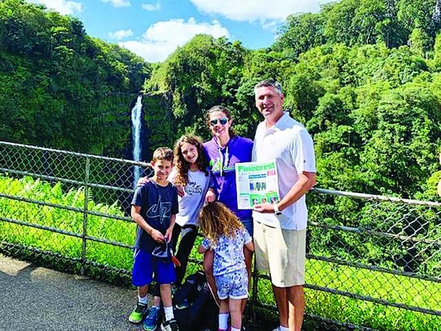 Read at Akaka Falls on the Big Island of Hawaii