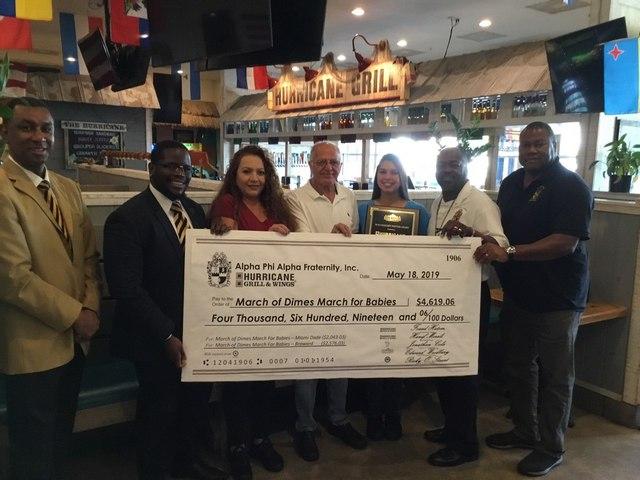 Alpha Phi Alpha, Hurricane Grill&Wings partner to benefit premature babies
